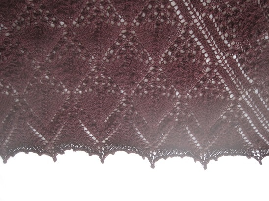 Willow lace shawl